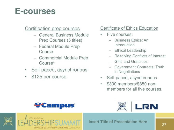 Certificate of Ethics Education