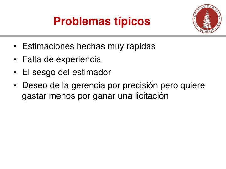 Problemas típicos