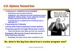 u s options toward iran