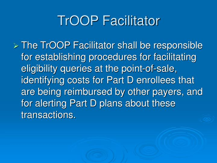 TrOOP Facilitator