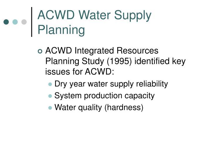 Acwd water supply planning