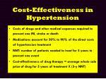 cost effectiveness in hypertension