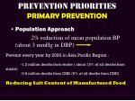 prevention priorities primary prevention