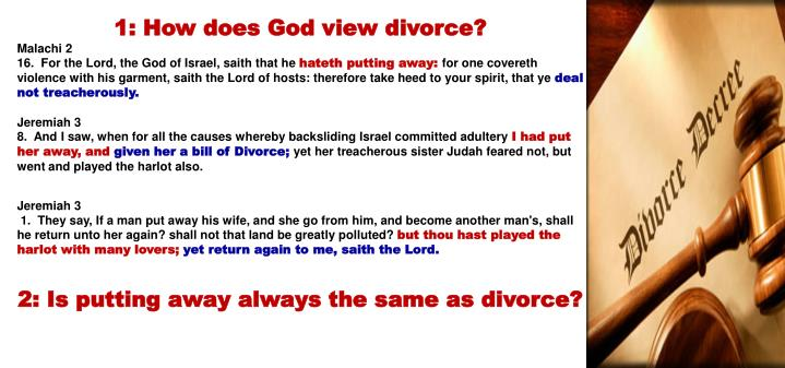 1: How does God view divorce?