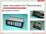 new innovation for thermometry