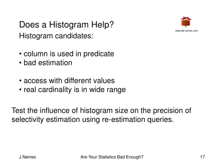 Does a Histogram Help?