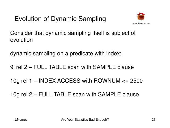 Evolution of Dynamic Sampling