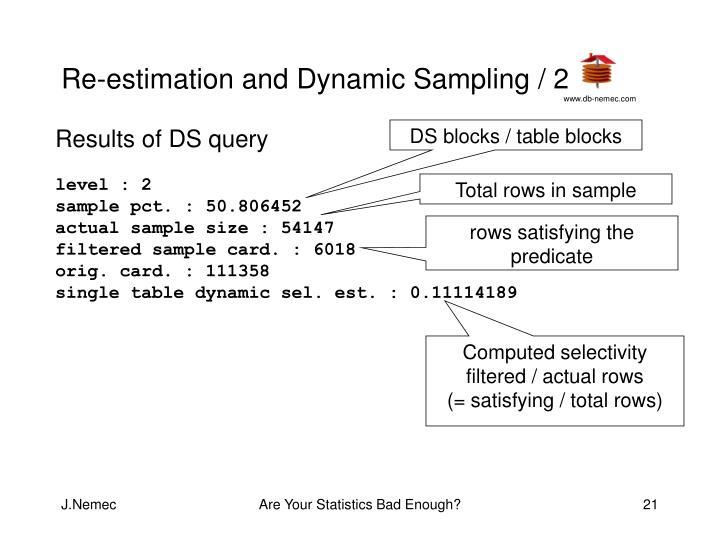 Re-estimation and Dynamic Sampling / 2