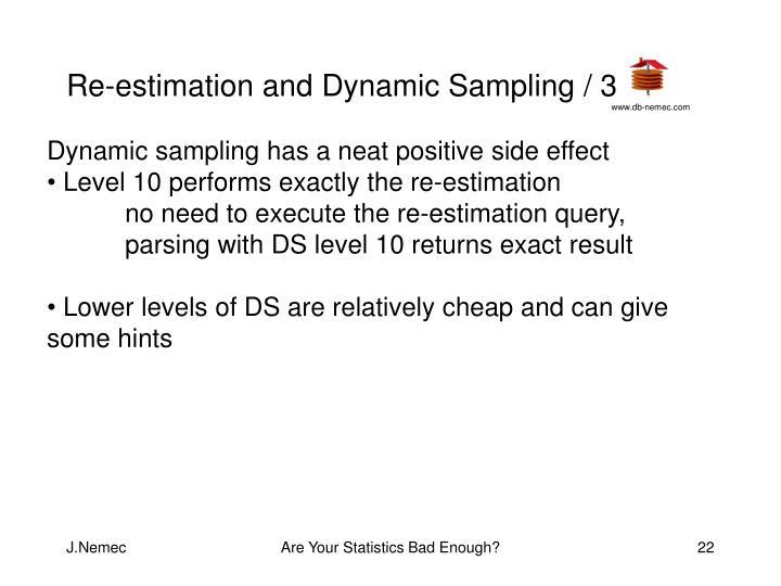 Re-estimation and Dynamic Sampling / 3