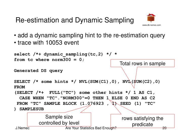 Re-estimation and Dynamic Sampling