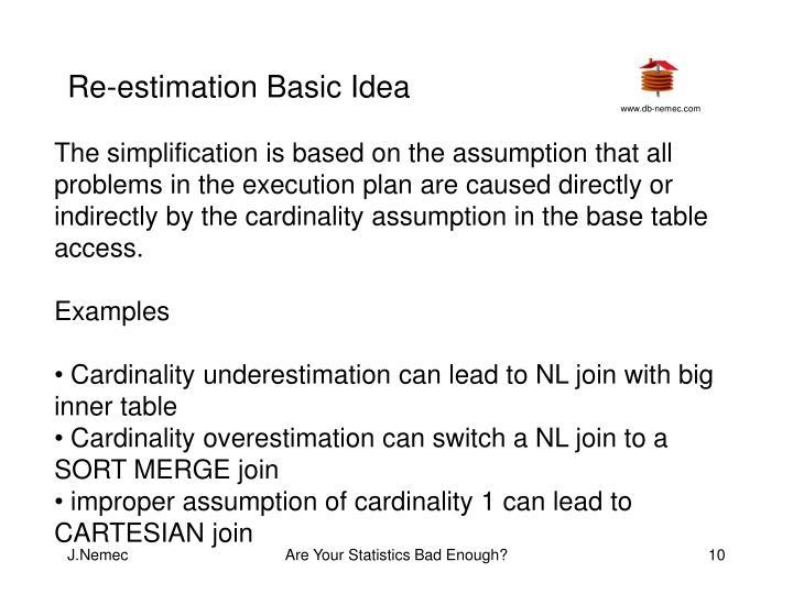 Re-estimation Basic Idea