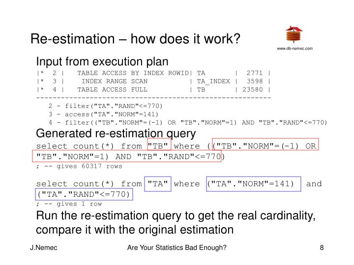 Re-estimation – how does it work?