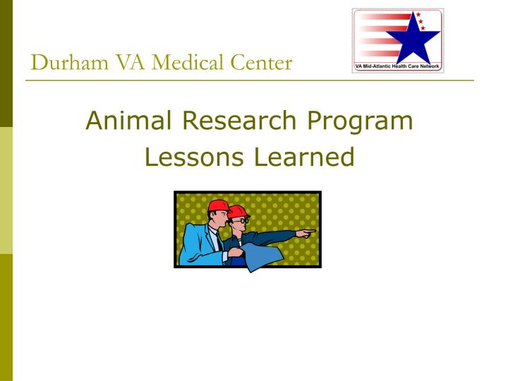 animal research program lessons learned n.
