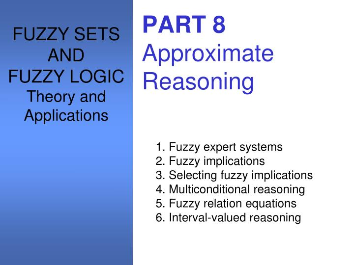 fuzzy thesis Learning fuzzy logic from examples m- 8'' a thesis presented to the faculty of the college of engineering and technology ohio university in partial fulfillment of the requirements for the degree.