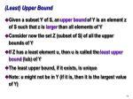 least upper bound