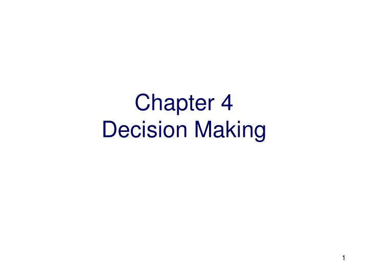 chapter 4 decision making n.