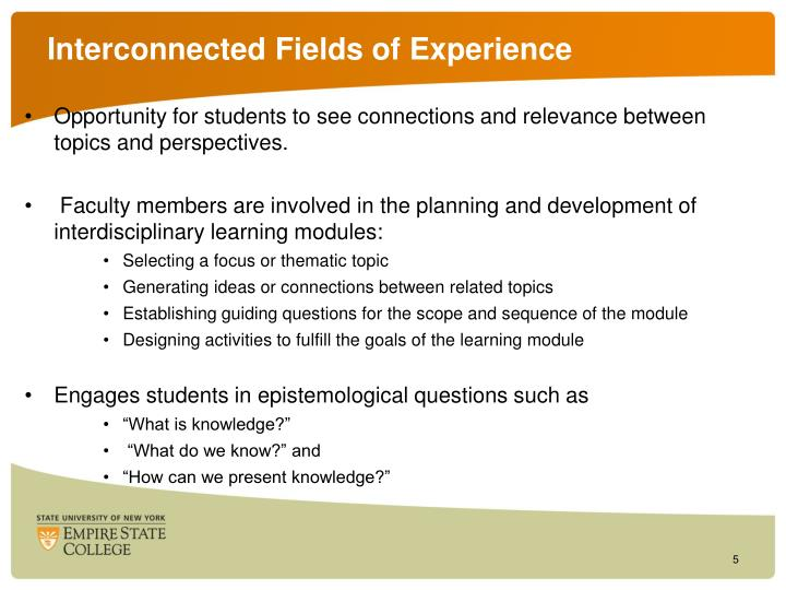 Interconnected Fields of Experience