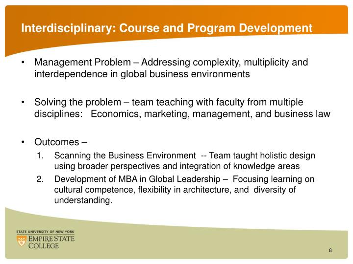 Interdisciplinary: Course and Program Development