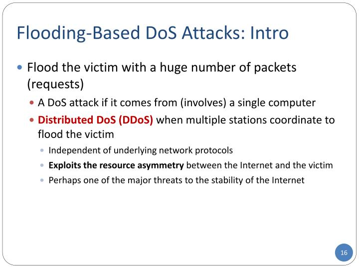 Flooding-Based DoS Attacks: Intro