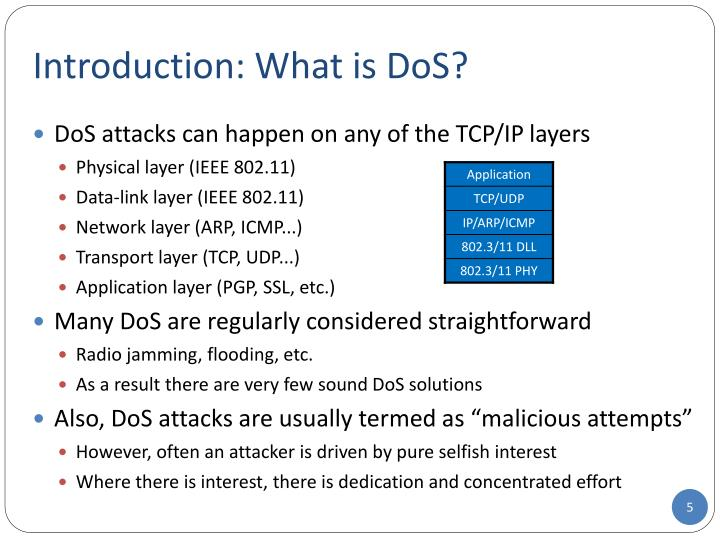Introduction: What is DoS
