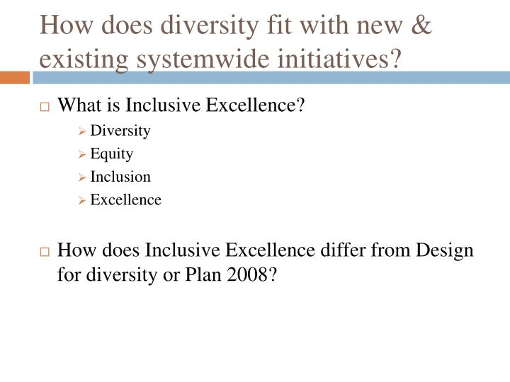 How does diversity fit with new & existing