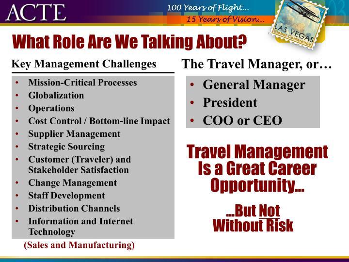 Key Management Challenges