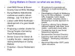 dying matters in devon so what are we doing
