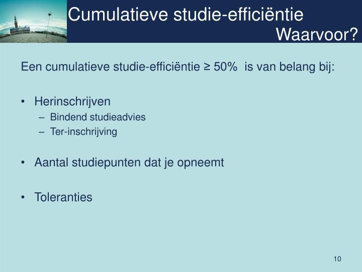 Cumulatieve studie-efficiëntie