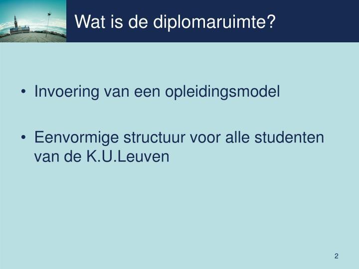 Wat is de diplomaruimte