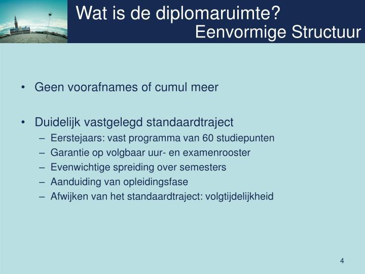 Wat is de diplomaruimte?