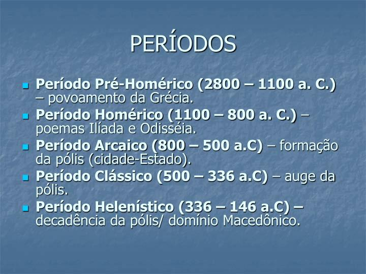 PERÍODOS