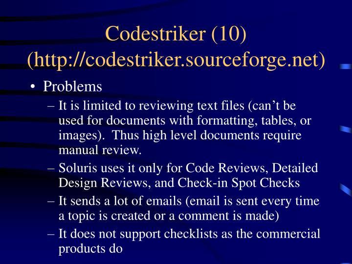 Codestriker (10)