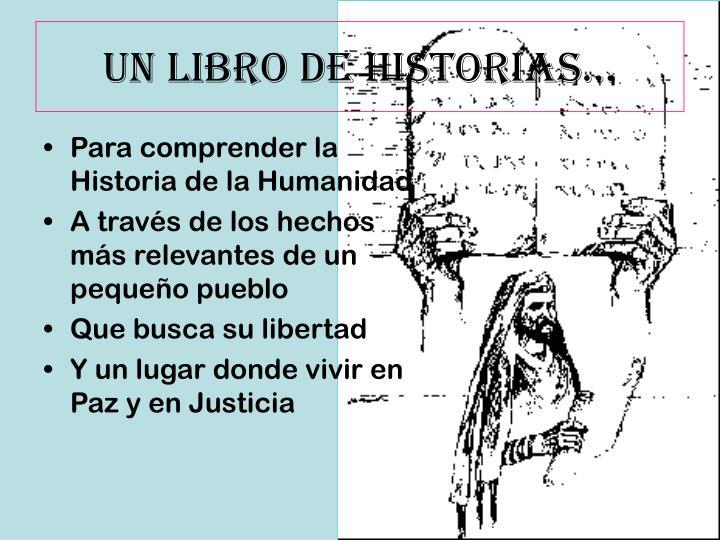 UN LIBRO DE HISTORIAS…