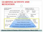 learning activity and retention