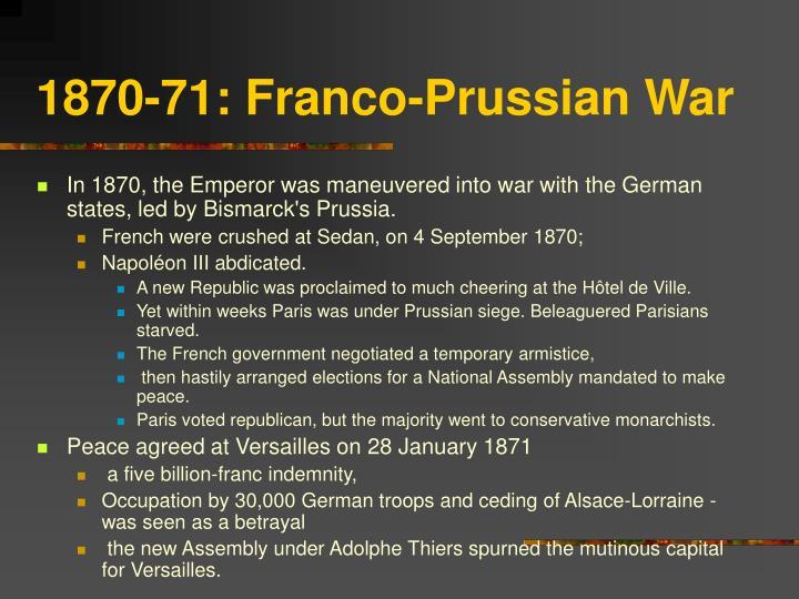 1870-71: Franco-Prussian War