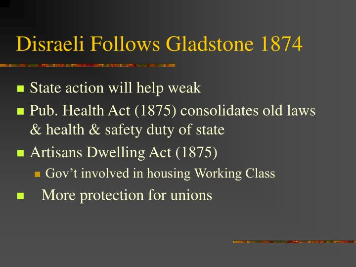 Disraeli Follows Gladstone 1874