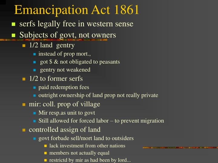 Emancipation Act 1861