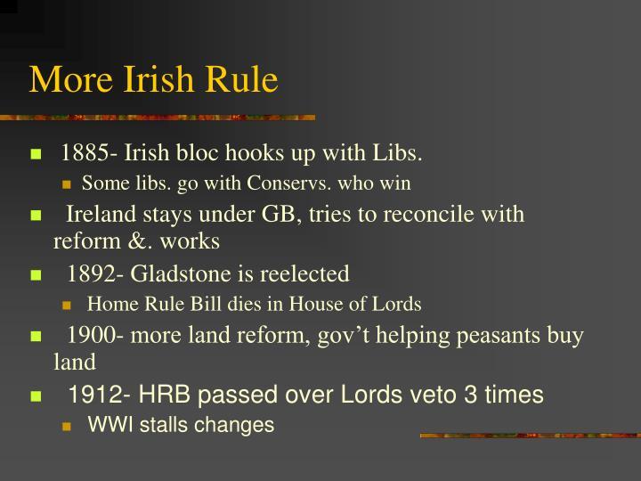 More Irish Rule