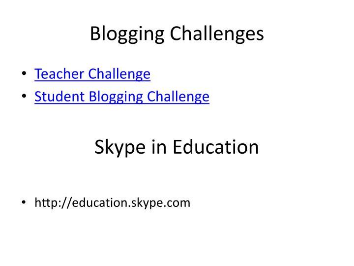 Blogging Challenges