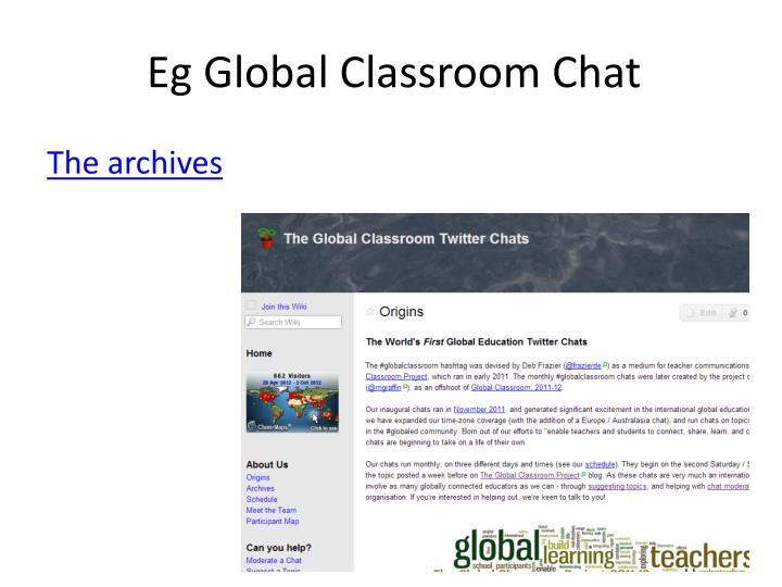 Eg Global Classroom Chat