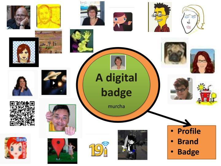 A digital badge