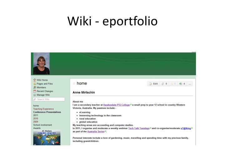 Wiki - eportfolio