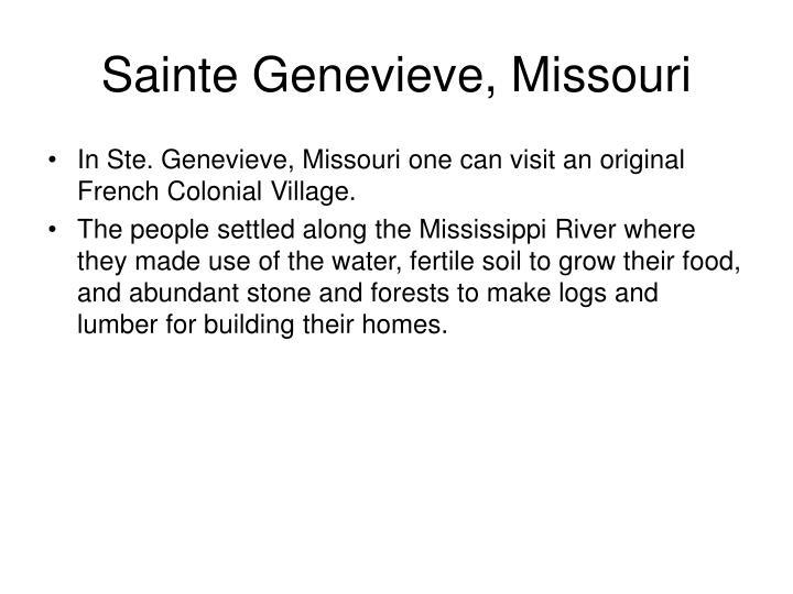 Sainte Genevieve, Missouri