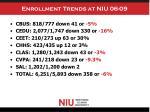 enrollment trends at niu 06 09