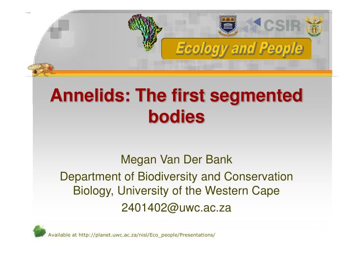 Annelids the first segmented bodies