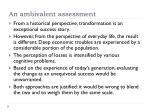 an ambivalent assessment