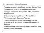 an unconventional career
