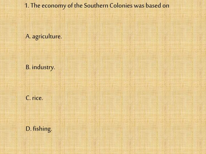 fishing in the southern colonies