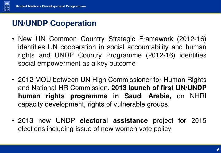 UN/UNDP Cooperation