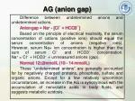 ag anion gap